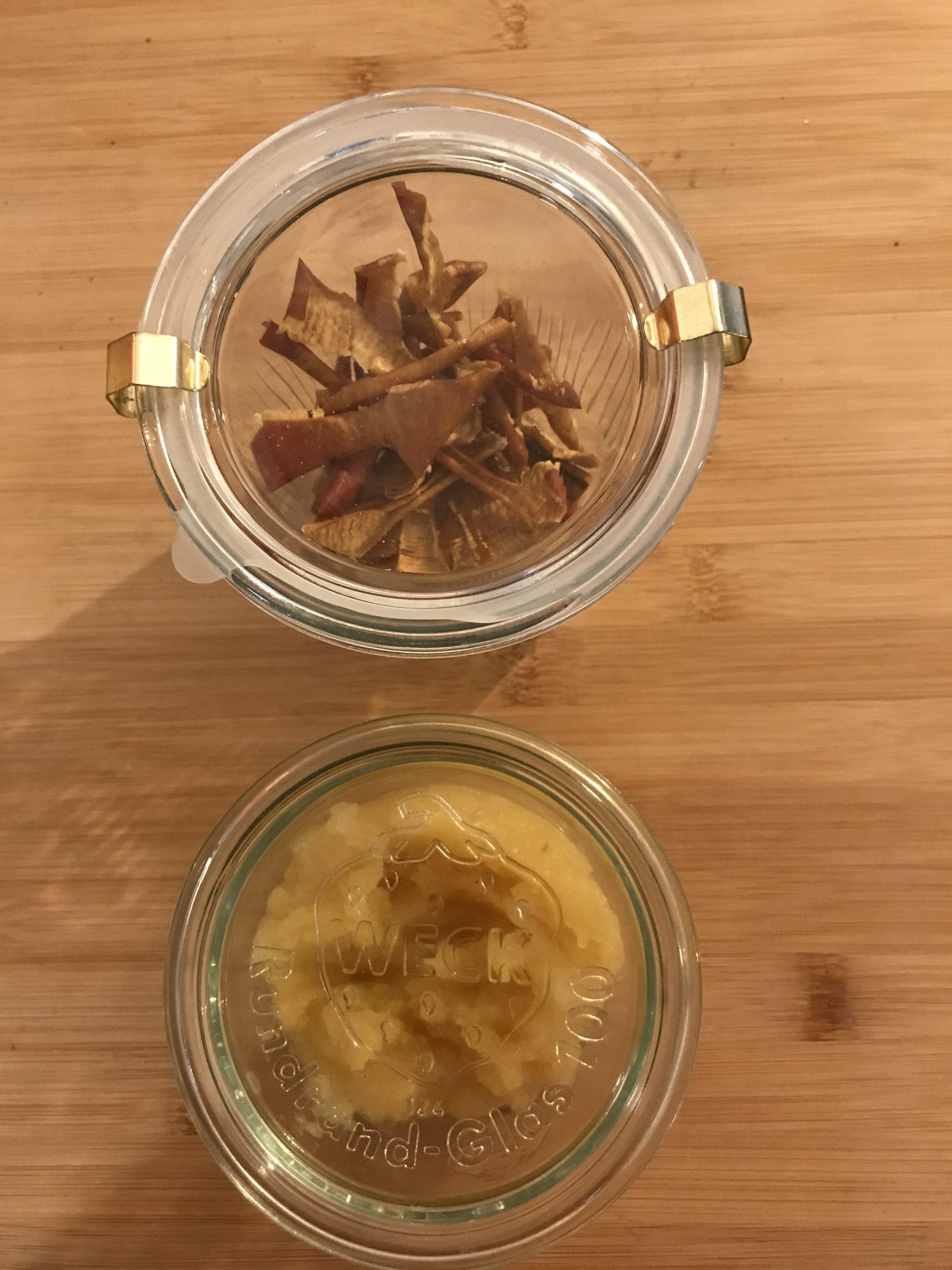 Infusion de peaux de pommes séchées